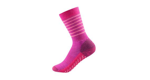 Devold Kids Multi Medium Sock Fuchsiastripe